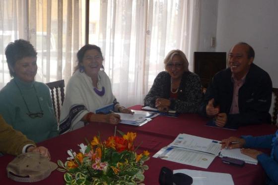 Presidenta RCO Ann Davenport, GD 4340 Elena Torres, GD 4865 Marta Romero y GD 4320 Miguel Tapia