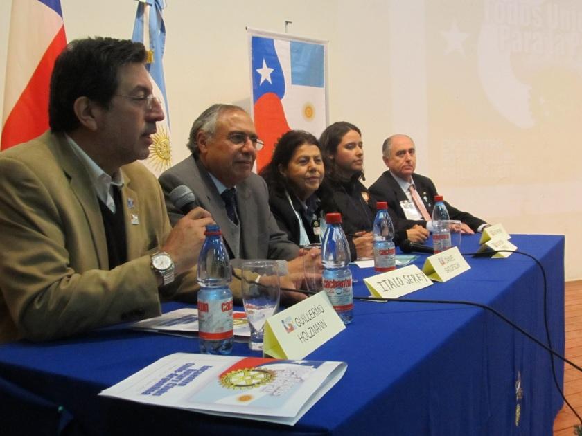 Guillermo Holzmann, Ítalo Serey, Elena Torres, Katerine Allendes y Daniel Sadofschi