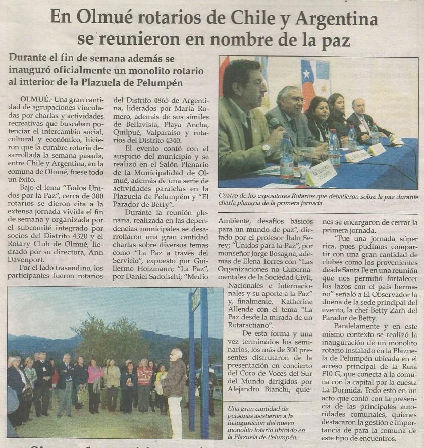 El Observador, Mayo 7 de 2013