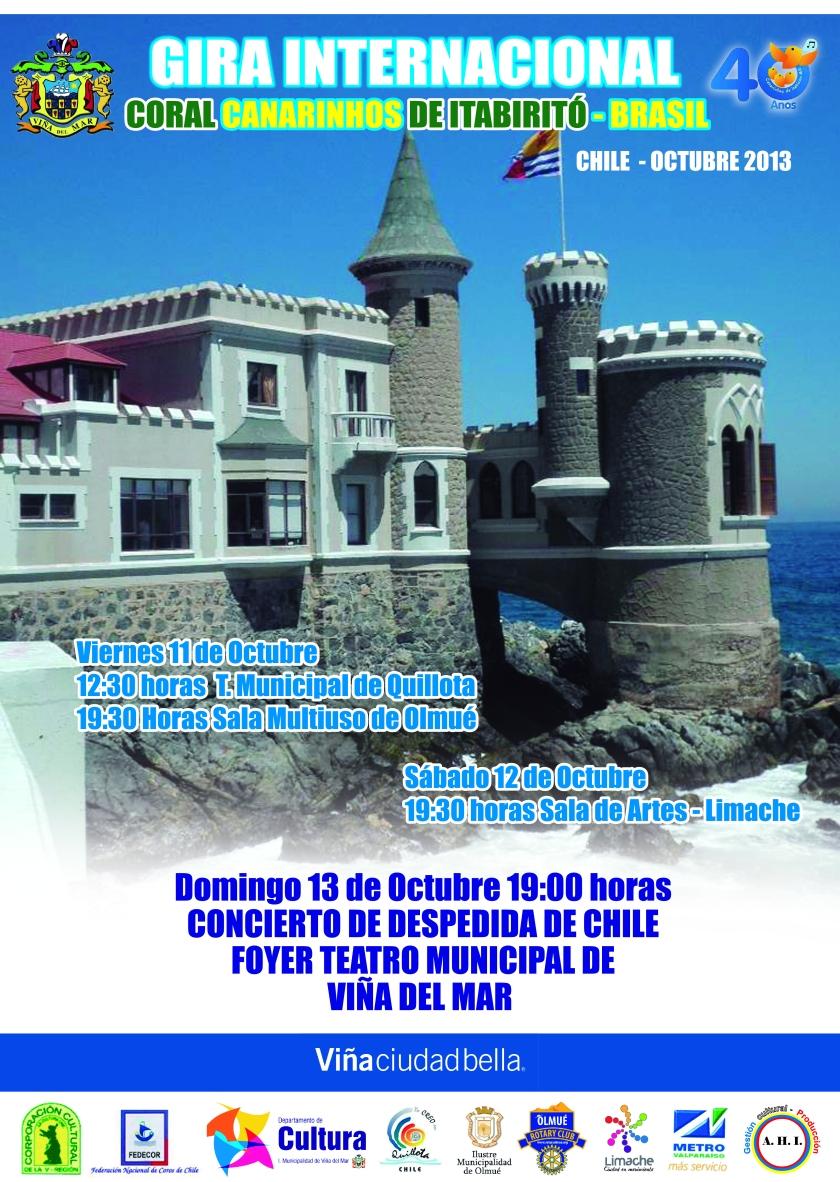 AFICHE CORAL CANARINHOS DE ITABIRITÓ EN CHILE 2013