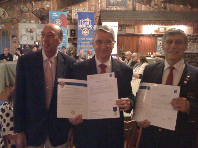 PGD Miguel Tapia, EGD 4420 Fernando Dias y GD Jorge Vega