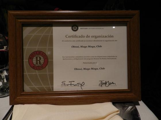 Carta Constitutiva Rotaract Olmué
