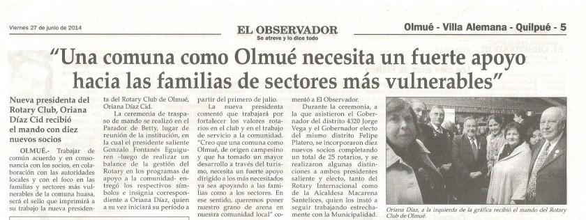 El Observador, viernes 27 de junio de 2014