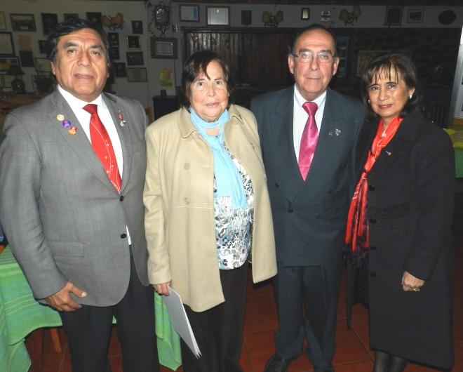 GD Felipe Platero, Oriana Diaz, Jorge Fontanes y Ana Maria Chang.