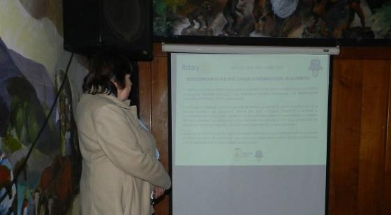Oriana entrega informe del periodo