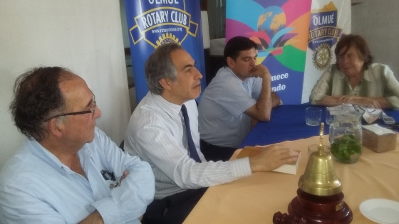 Presidente RC Olmué Jorge Fontanes, Senador Francisco Chahuán, Dr. Luis Alberto Córdova y PP Oriana Díaz