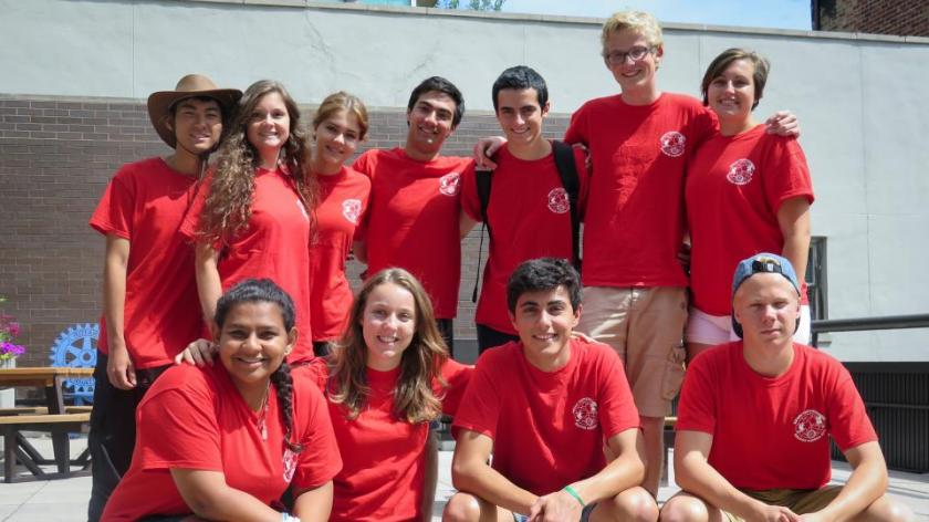 Rotary Youth Exchange students visit RI World Headquarters in Evanston, Illinois, USA, during a Discover America Bus Trip in July. Fotografía de: Rotary International/Arnold R. Grahl