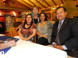 Alejandra Fontanes, Eliana Cabello, Elizabeth Araos y Edison Perez