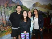 Alejandro Farias, Francizka Menke, Alejandra Fontanes y Claudia Fontanes