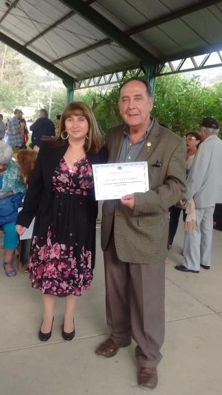 Directora Miriam Araya y Presidente RCO Jorga Fontanes