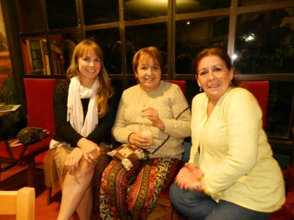 Theresa Grasemann, Eliana Cabello y Silvia Ibarra