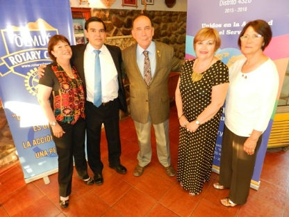 Yolanda Pablo, Luis Cordova, Jorge Fontanes, Patricia Villegas y Laura Jara