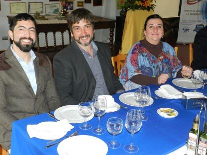 Emilio Becker, Juan Carlos Puiggros y Alejandra Fontanes