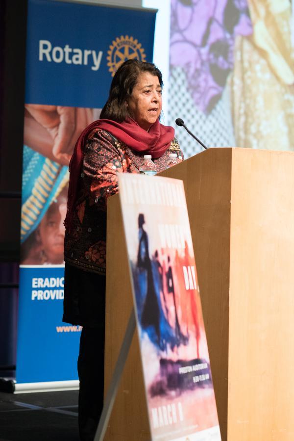 Razia Jan, fundadora y directora del centro de enseñanza Zabuli, fue homenajeada durante el Día Internacional de la Mujer.