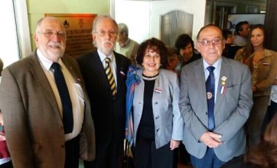 Noel Fontanes, Nelson Pardo, GD Sonia Garay y Jorge Fontanes