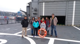 Rotarios que acompañaron a los niños Edison Perez, Laura Jara, Elizabeth Gallardo, Lissette Moraga y Gonzalo Fontanes