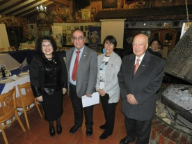 GD Sonia Garay, Presidente RC Olmué Jorge Fontanes, Laura Jara y EGD Sergio Garay
