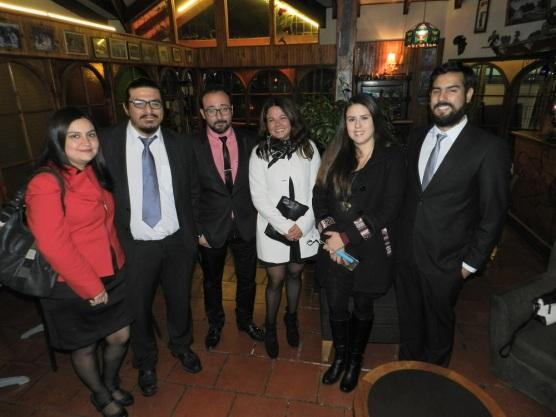Carolina Marín, Francisco Carreño, Giorgio Interdonato, Elizabeth Gallardo, Lissette Moraga y Francisco Aros
