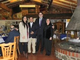 Elizabeth Araos, Edison Pérez, Gonzalo Fontanes y Alejandra Fontanes
