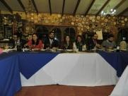 Francisco Carreño, Carolina Marín, Francisco Aros, Lissette Moraga, Elizabeth Gallardo, Giorgio Interdonato y Emilio Becker