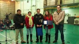 Edison Perez, Elizabeth Gallardo, Comandante Alberto Osorio, Lissette Moraga y Gonzalo Fontanes