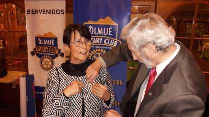 Traspaso de Mando RC Olmué. Pastpresident Laura Jara Madariaga, Presidente Ivan Dragicevic Trewhela