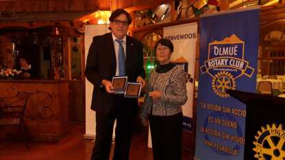 Reconocimiento RC Olmué a Presidenta 2017-2018 y 2018-2019 Laura Jara Madariaga
