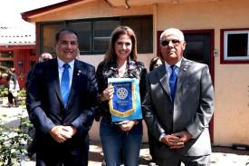 Presidente RC Iquique Jorge Soto, Alcaldesa Olmué Macarena Santelices y Daniel Naranjo