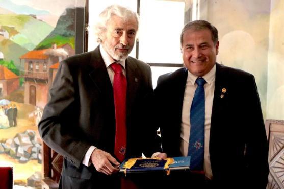 Presidente RC Olmué Ivan Dragicevic y Presidente RC Iquique Jorge Soto