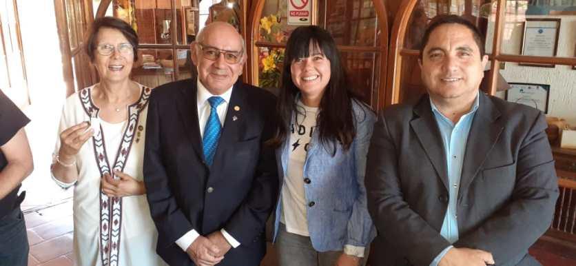 Laura Jara Madariaga, Santiago Amador Amador, Elizabeth Gallardo Díaz y Marcelo Ponce Andaur